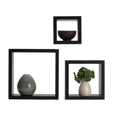 Harbortown3pc Wall Cube Display Shelf Set Square Decorative Floating - Square Display Shelf