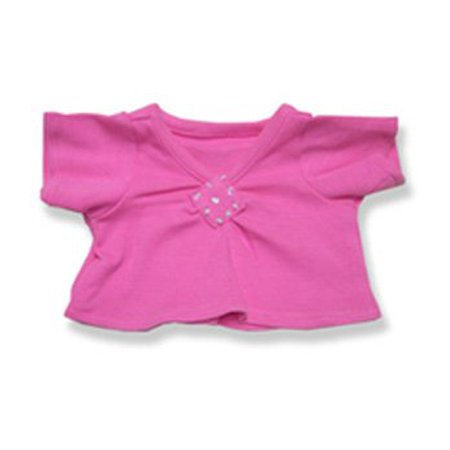 Pink Top With Diamond Pattern Teddy Bear Clothes Fits Most 40 40 Simple Build A Bear Clothes Patterns