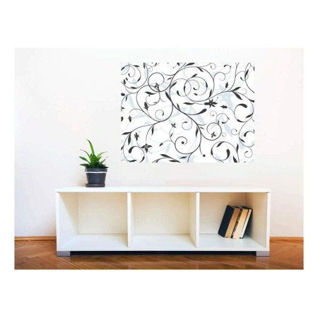 wall26 Removable Wall Sticker/Wall Mural - Seamless Floral Pattern | Creative Window View Home Decor/Wall Decor - 36
