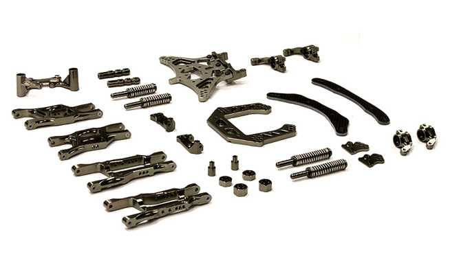 Integy RC Toy Model Hop-ups T8013GUN Billet Machined Type II Conversion Kit for Traxxas 1... by Integy