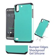"for 5"" HTC Desire 530 Desire 650 Case Phone Case Shock Proof Edges Hybrid Armor Layers Hard Back Bumper Slim Cover Smooth Teal"