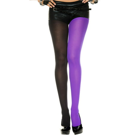 Opaque jester tights 748-BLACK/PURPLE