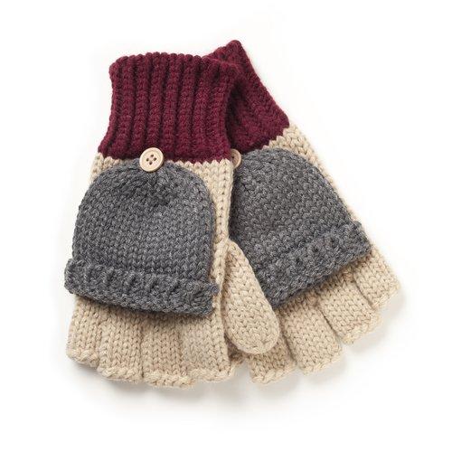 Private Label Women's Colorblock Poptop Gloves, Multi-Colored