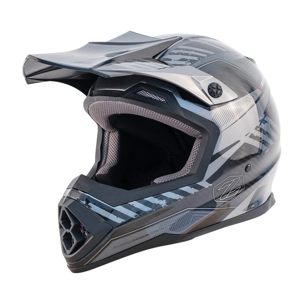 Zox Matrix Carbon Squadron MX Offroad Helmet Silver