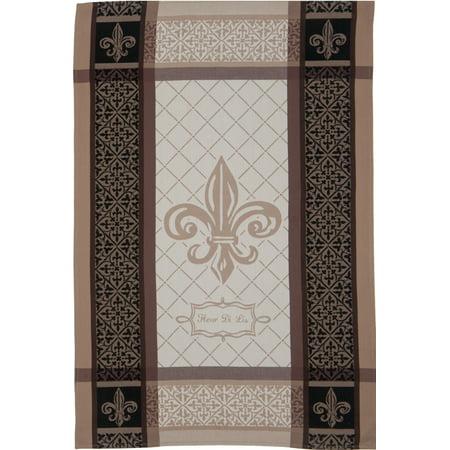 Kay Dee Belle Maison Fleur de Lis 28 Inch Jacquard Kitchen Dish Towel Cotton