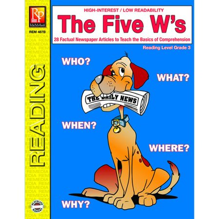 Remedia Publications The 5 Ws 3rd Grade Reading Level Book Walmartcom