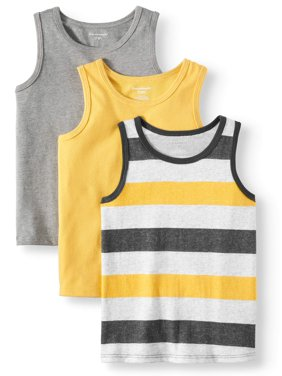 00cde766187aa Product Image Solid   Striped Jersey Tank Tops