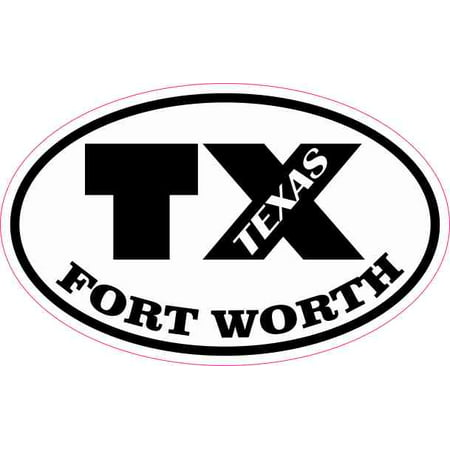 4in x 2.5in Oval TX Fort Worth Texas Sticker (Shark Speciality Tools Co Fort Worth Tx)