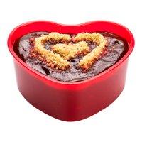 "5 oz Red Plastic Mini Heart Cup - 3 1/4"" x 3"" x 1 1/2"" - 100 count box"