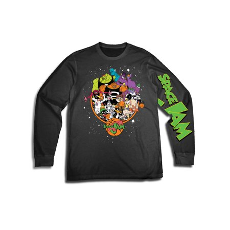Movies & Tv Space jam men's tune squad looney tunes long sleeve graphic tee with sleeve (Welcome To The Big Show Jock Jams)