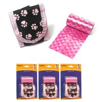 3 Pink Dog Waste Bags Refills Dispenser Pet Dog Cat Pickup Poop Bag Refill Roll