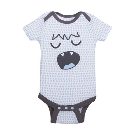 Newborn Baby Boy Printed Short Sleeve Bodysuit