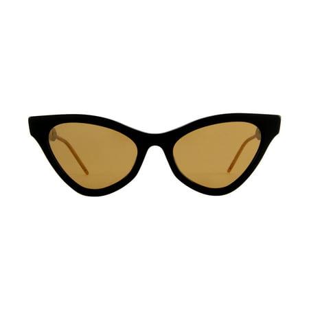 Gucci - GG0597S Black Cat Eye Women Sunglasses - 55mm