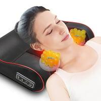 Novashion Shiatsu Massage Pillow Back Neck Massager Kneading with Heat Shoulder Pain Relief - Black