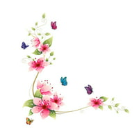 1PC Flowers Butterfly Removable Wall Sticker Art Home Decor Wall Vinyl Decal