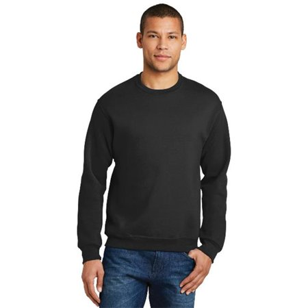 Jerzees 562M Mens Nublend Crewneck Sweatshirt  Black   Small