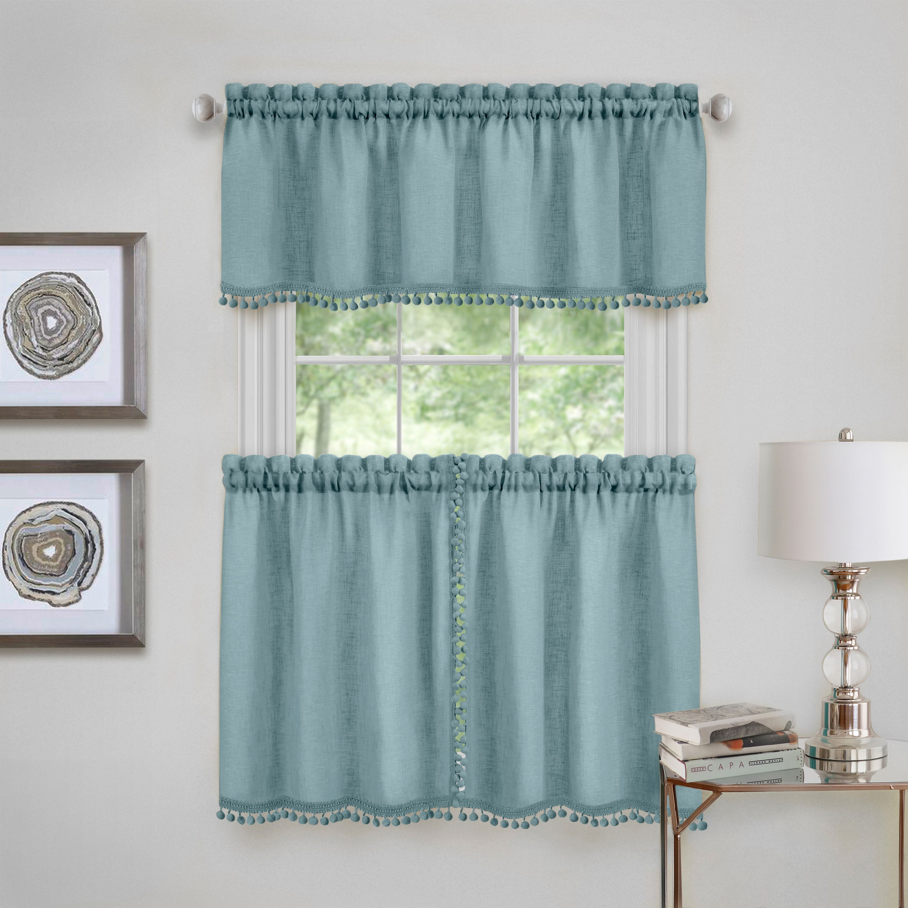 Wallace Window Kitchen Curtain Tier Pair and Valance Set