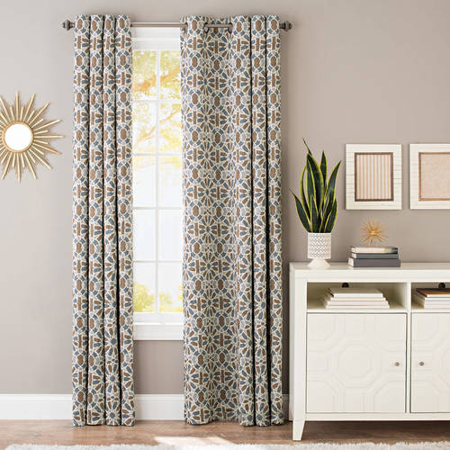 Better Homes and Gardens Mosaic Tile Crushed Room Darkening Curtain Panel