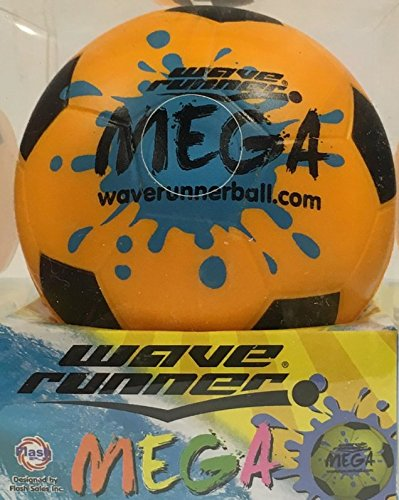Wave Runner Mega Sport,Soccer Ball Orange (#1 Water Skipping Ball) by Flash Sale