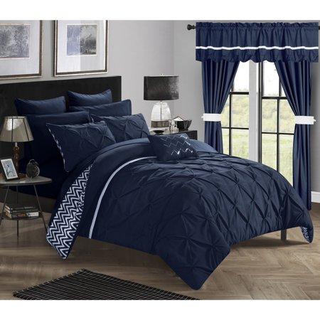 Chic home 20 piece potterville complete bed room in a bag - Complete bedroom sets with curtains ...