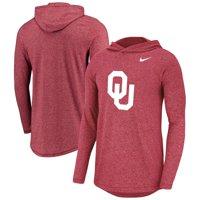 Oklahoma Sooners Nike Marled Long Sleeve Hoodie T-Shirt - Heather Crimson