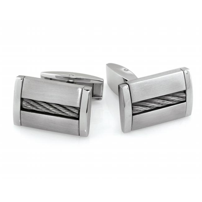 Legere Tcl-013 Stainless Steel Cuff Link - Stainless Cable