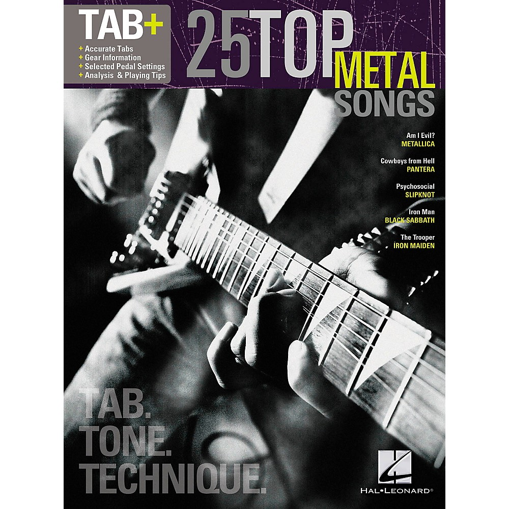 Hal Leonard 25 Top Metal Songs from Guitar Tab   Songbook Series - Tab, Tone & Technique