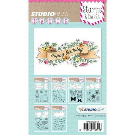 Sentiments - Studio Light Basic Stamp & Die Set ()