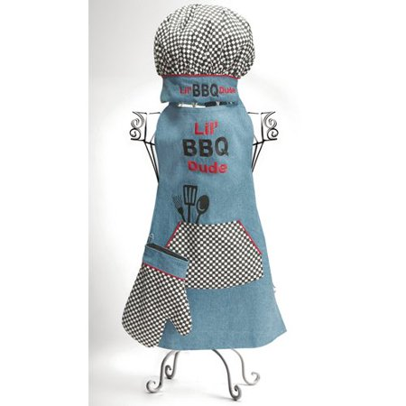 Manual Woodworkers & Weavers Izzy's Busy Lil Bib Dude Apron (Set of 3)
