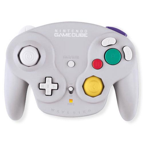 Nintendo Wavebird Wireless Controller Grey, Silver, Compa...