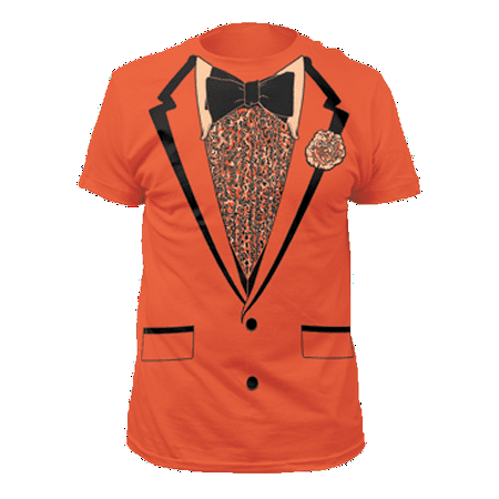 Orange Tuxedo T-Shirt Costume Lloyd Christmas Dumb And Dumber Prom Tux - Couples Dumb And Dumber Costumes