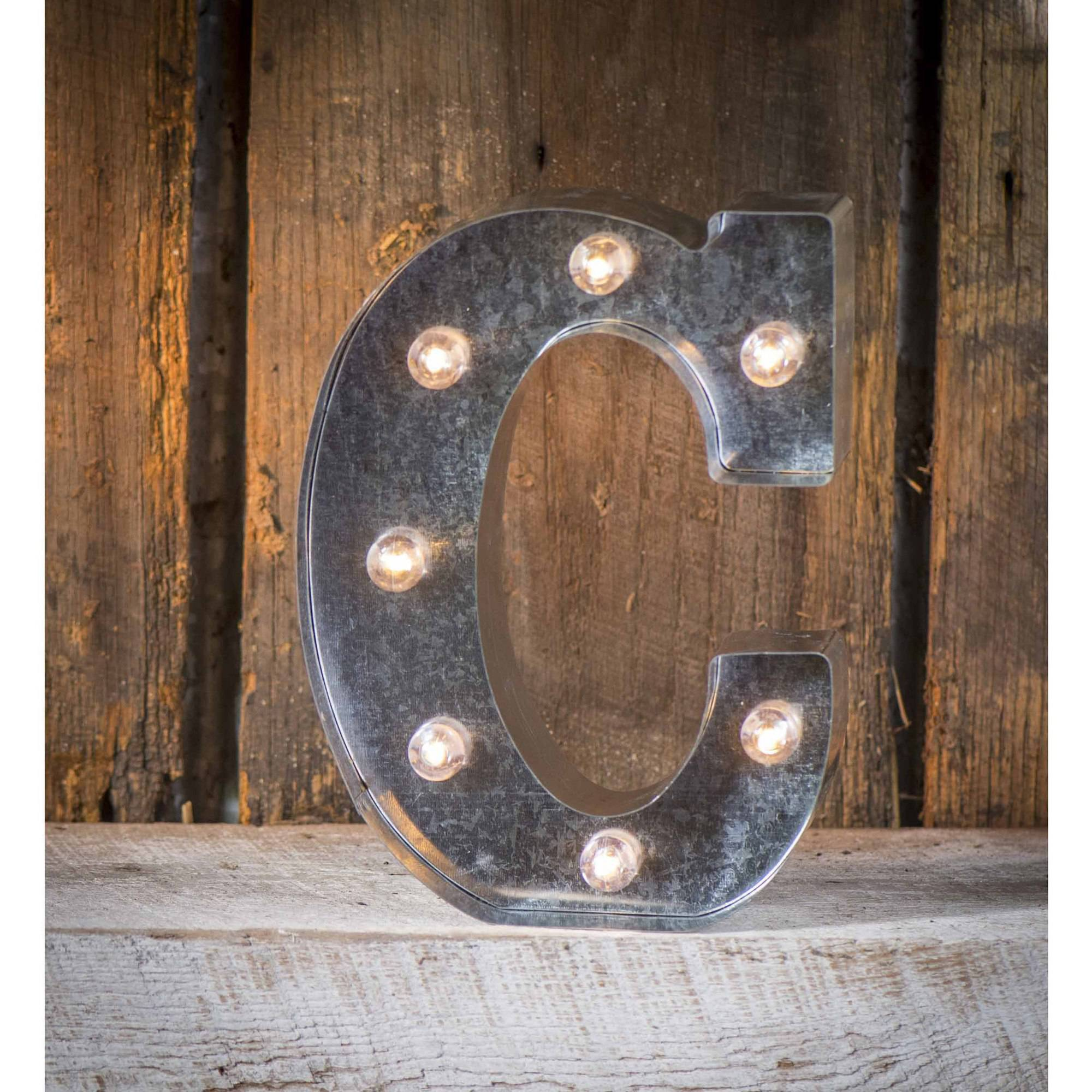 Light-Up Marquee Letter C
