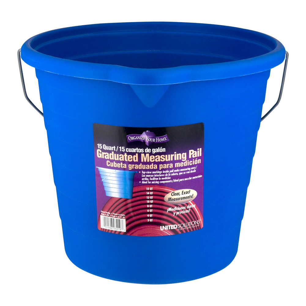 Organize Your Home Graduated Measuring Pail, 15.0 QT