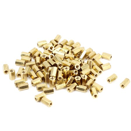 Net Nuts - 100 Pcs M2 5mm Hexagonal Net Nut Female Brass Standoff Spacer for CCTV Camera