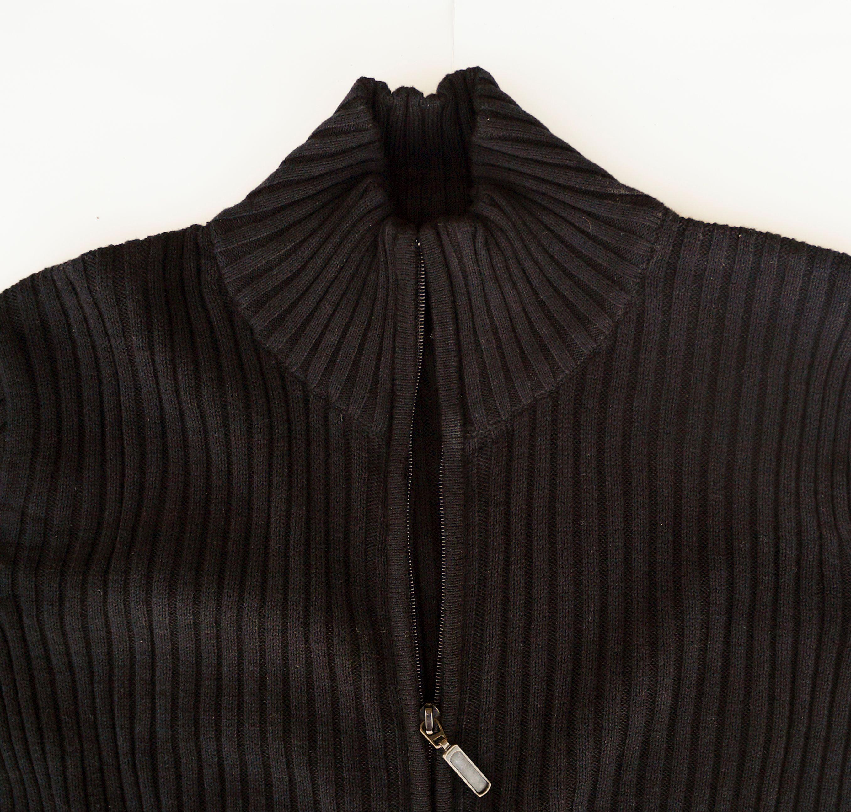Marquis - Marquis Men s Full Zip Ribbed Mock Turtleneck 100% Cotton Cardigan  - Walmart.com b1289994d