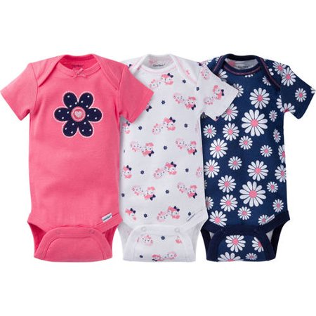 168c709601925 Newborn Baby Girl Onesies Bodysuits Assorted, 3-Pack