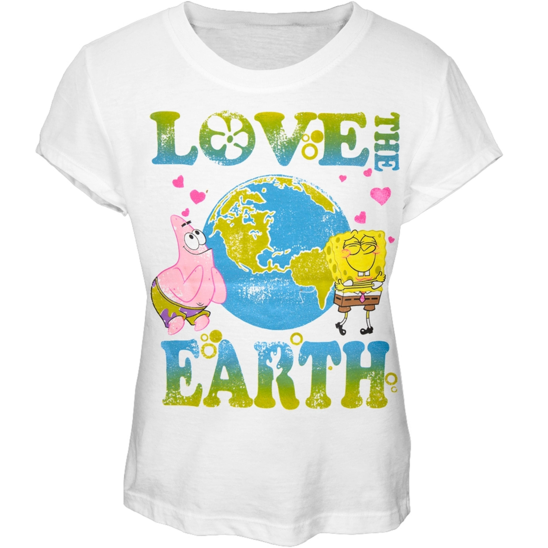 Spongebob Squarepants - Love The Earth Girls Youth T-Shirt