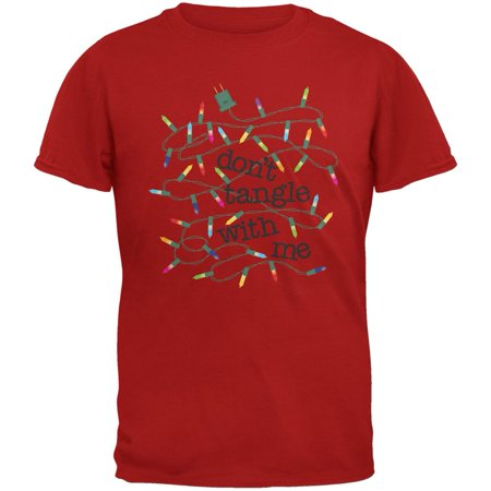 Christmas Dont Tangle With Me Red Adult T-Shirt