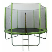 North Gear 10 Foot Trampoline Set with Safety Enclosure and Ladder