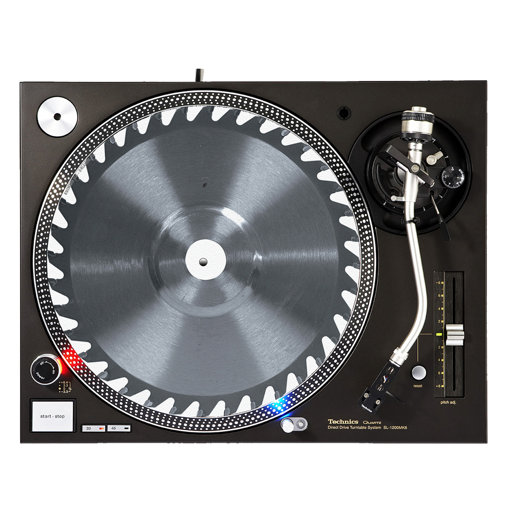 "KuzmarK™ 12"" DJ Turntable Slipmat - Saw Blade"