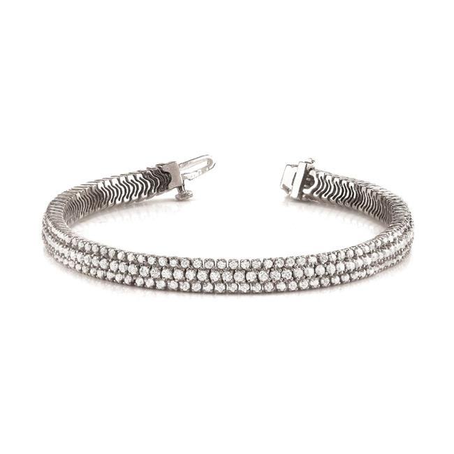 Harry Chad HC10578 10.00 CT Sparkling Round Cut Diamond Tennis Bracelet - White Gold 14K, Color G - VS2 Clarity - image 1 of 1