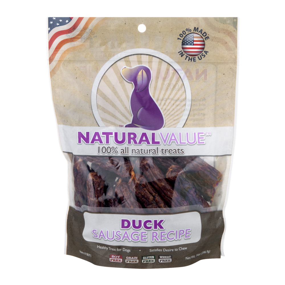 Natural Value 100% All Natural Treats Duck Sausage Recipe, 14.0 OZ by Loving Pets, Inc.