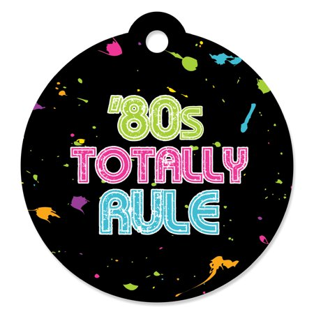 80's Party Fashion (80's Retro - Totally 1980s Party Favor Gift Tags (Set of)