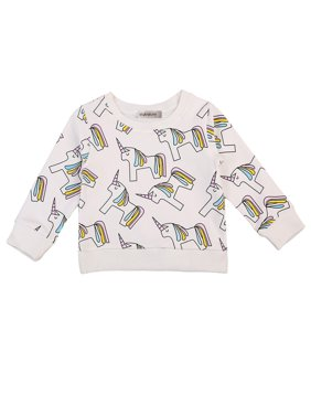 StylesILove Toddler Girl Unicorn Pattern Long Sleeve Sweatshirt (120/5-6 Years)