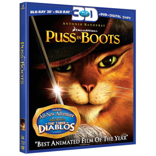 Puss In Boots 3D (3D Blu-ray + Blu-ray 2D + DVD) (With INSTAWATCH) (Widescreen)