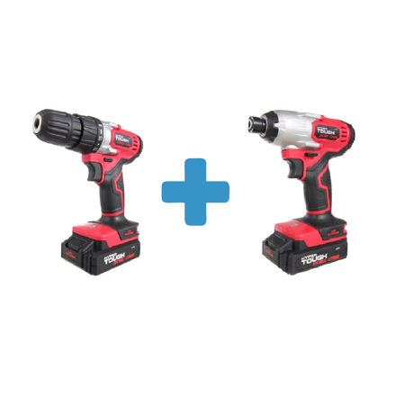 Hyper Tough HT Charge 20-Volt Max Lithium Ion Cordless Drill-Driver, AQ75034G and Hyper Tough HT Charge 20V Li-Ion Impact Driver,