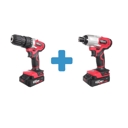 Hyper Tough HT Charge 20-Volt Max Lithium Ion Cordless Drill-Driver and 20V Li-Ion Impact