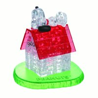 Original 3D Crystal Puzzle - Snoopy and Doghouse