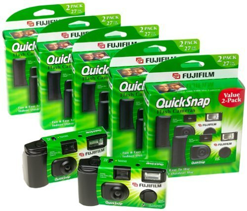 Fuji 35mm QuickSnap Single Use Camera, 400 ASA (FUJ7033661) Category: Single Use Cameras (Discontinued by Manufacturer),... by Fujifilm
