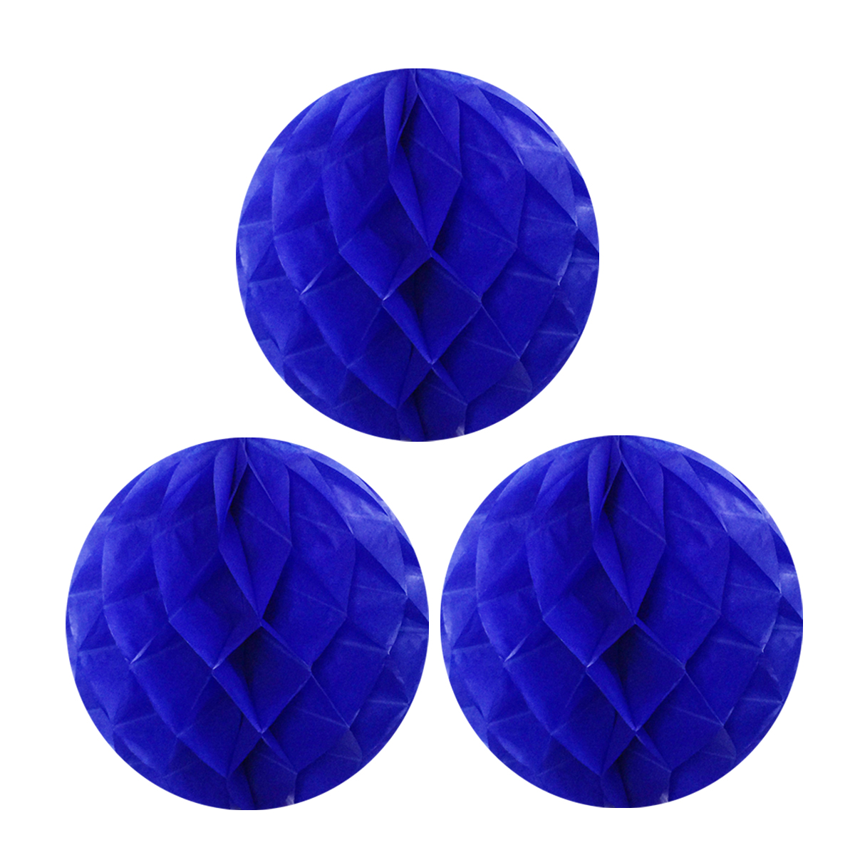 """Wrapables® 12"""" Set of 3 Tissue Honeycomb Ball Party Decorations for Weddings, Birthday Parties, Baby Showers, and Nursery Décor, Orange"""